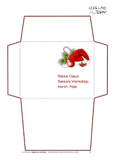 free santa envelope template business template