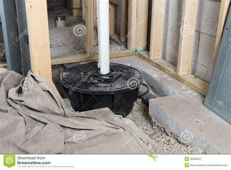 basement sump crock home improvement stock image