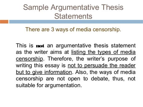 example of thesis statement for argumentative essay example of a
