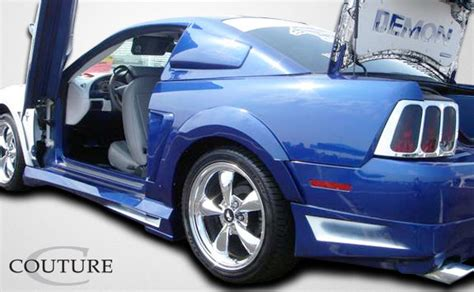 99 04 mustang side skirts 99 04 ford mustang couture side skirts kit