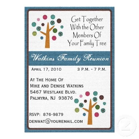 Family Reunion Invitation Card Templates by 17 Best Images About Family Reunion On Trees
