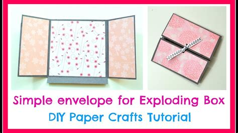How To Make Envelopes Out Of Scrapbook Paper - diy paper crafts how to make a simple envelope for