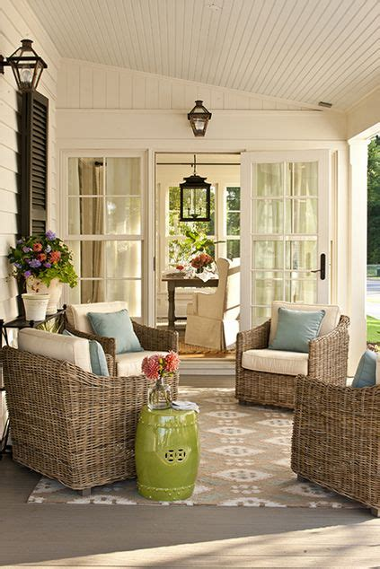 Ballard Designs Counter Stools patio outside of the sunroom source southern living