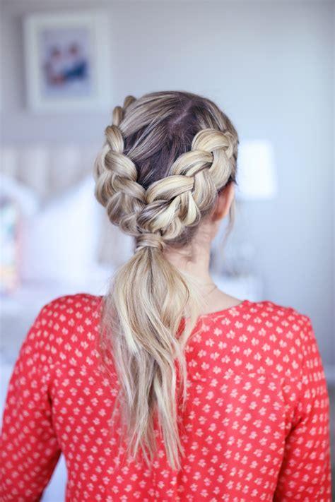 cute girl hairstyles dutch braid 3 in 1 double dutch braids cute girls hairstyles