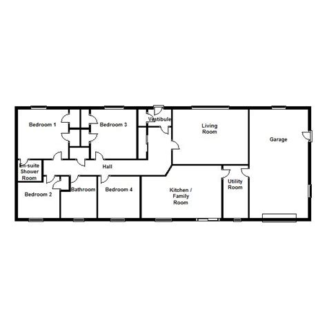 bungalow floor plans uk plan of 4 bedroom bungalow images