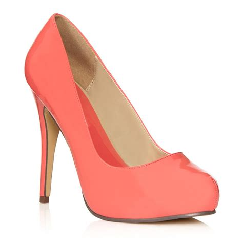 coral colored shoes these coral colored heels my style