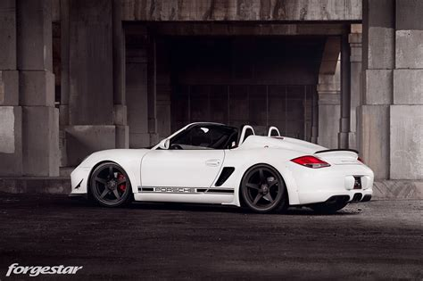 custom porsche boxster custom widebody porsche boxster spyder with forgestar wheels