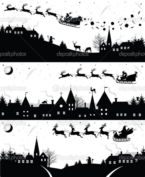 christmas village silhouette google search christmas