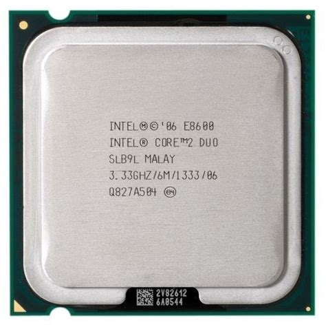 Processor Intel 2 Duo 333 Ghz E8600 Proc Core2 Duo E8600 cpu e8600 intel 174 coreâ 2 duo â 3 2ghz 1333 6m â ä 224 lẠt laptop