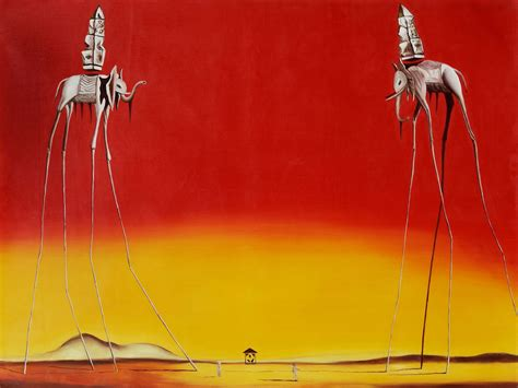 Dali City Of Drawers by Painted Painting 30 40 Repro Canvas Dali City