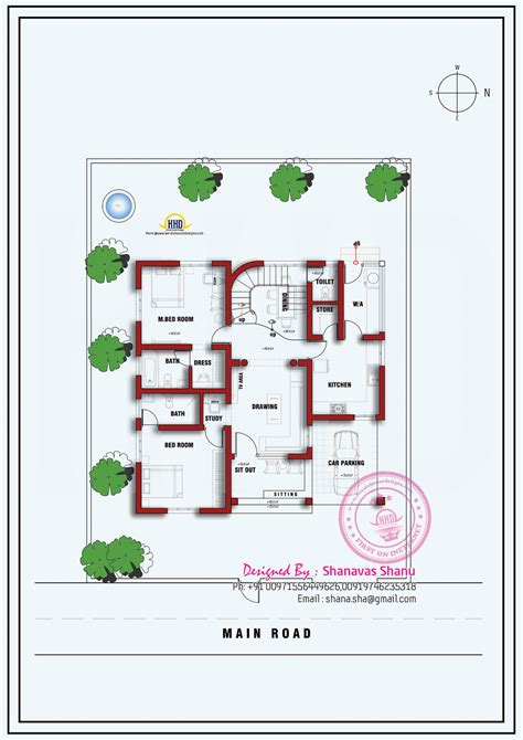 single floor plans house plan of a small modern villa kerala home design