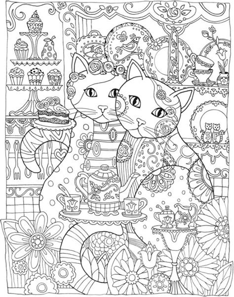 freebie cat mandala coloring page sting