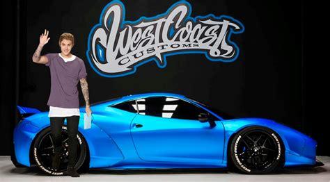 Justin Bieber Ferrari by Justin Bieber S Car Blue Ferrari 458 Italia Youtube