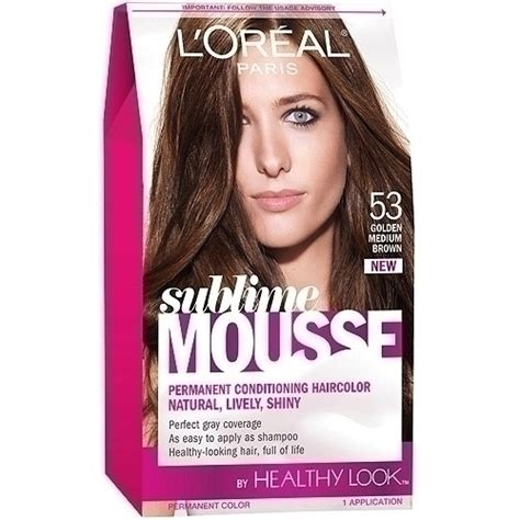 medium brown loreal hair color loreal sublime mousse hair color golden medium