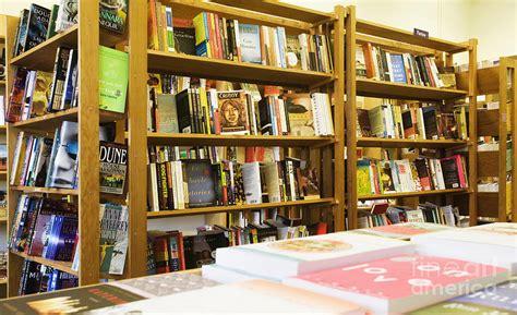 bookstore bookshelves bookstore shelves on display photograph by andersen ross