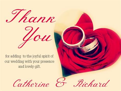 Wedding Wishes Thank You Messages by Wedding Thank You Messages 365greetings