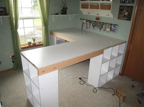 How To Build An L Shaped Desk Do It Yourself White Craft Desk How To Build A Custom Craft Desk