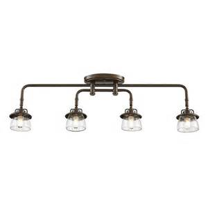 Kitchen Track Lighting Kits Allen Roth Bristow 4 Light Specialty Bronze Standard Fixed Track Light Kit Lowe S Canada