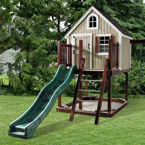 Amish Swing Sets by Amish Made Treehouse Loft Swing Set Playground