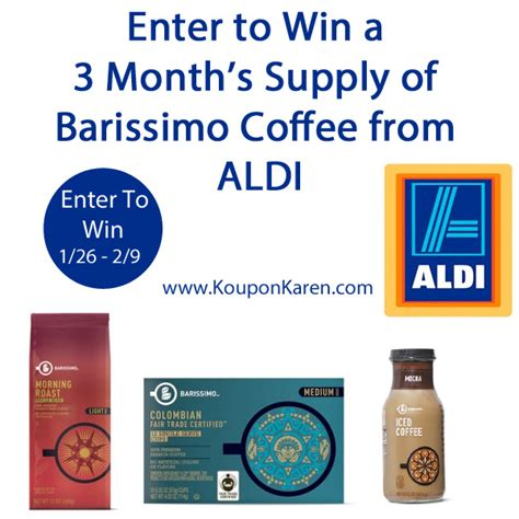 Aldi Giveaway - aldi is rebranding their coffee win a month s supply of coffee giveaway