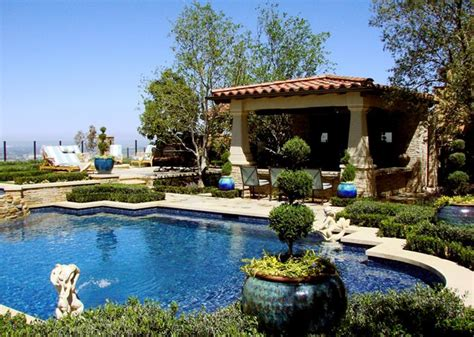Tuscan Inspired Backyards by Landscaping Tuscan Style Backyard Landscaping Pictures With A Pool Filters