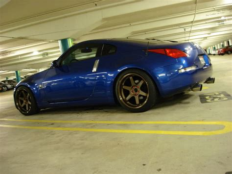 blue nissan 350z with black rims blue 350z gold rims www pixshark com images galleries
