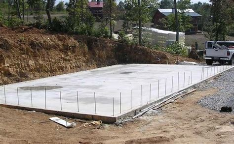 how to build a batting cage frame slab foundation