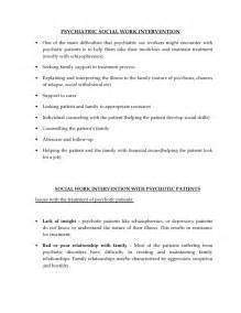 Psychiatric Report Template psychiatric social work intervention