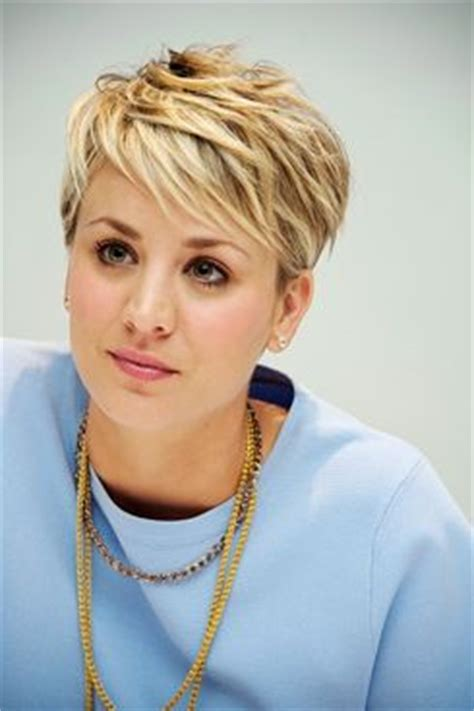 pixie cut penny kaley cuoco tv s finest pinterest follow me light