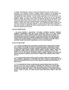 Social Media Contract Template by Social Media Contract Exle Free