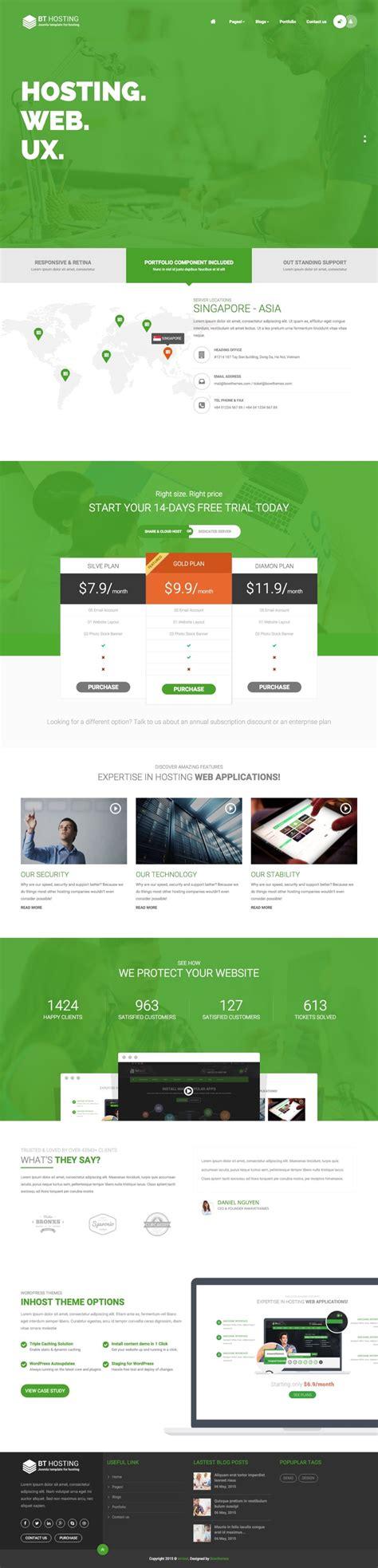 joomla hosting templates bt hosting joomla template for web host business service