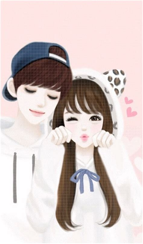 wallpaper cute korean couple cute korean cartoon couple wallpaper www pixshark com