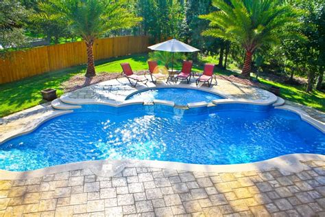 in ground pool ideas pool design captivating inground pool and spa with raised