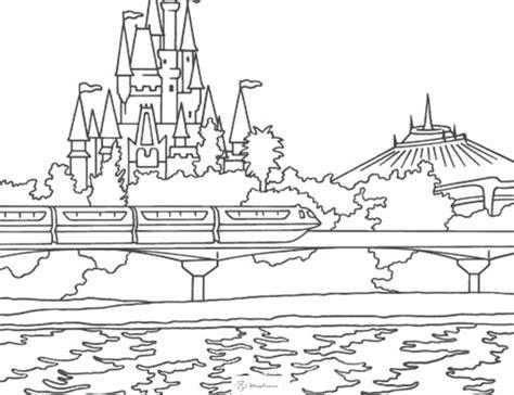 disneyland map coloring page magic kingdom florida coloring pages az coloring pages