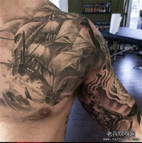 chest tattoo healing 黑叶子纹身图案