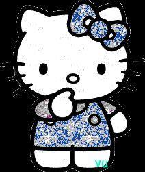 imagenes buenas noches hello kitty hello kitty glitter im 225 genes con movimiento pinterest