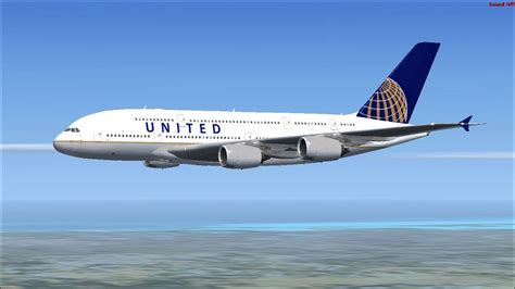 united flight united airbus a380 800 for fsx