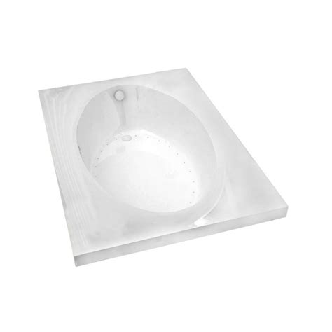 kohler underscore 6 ft drop in air bath tub with center