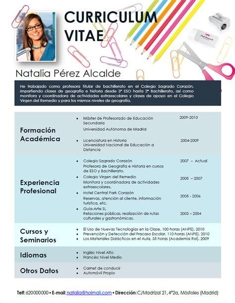 Modelo Curriculum Vitae Docente Plantilla De Curriculum Vitae Para Docentes 28 Images Ayuda Docente Serviciosnet Plantilla