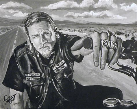 sons of anarchy curtains prince charming jax painting by tom carlton