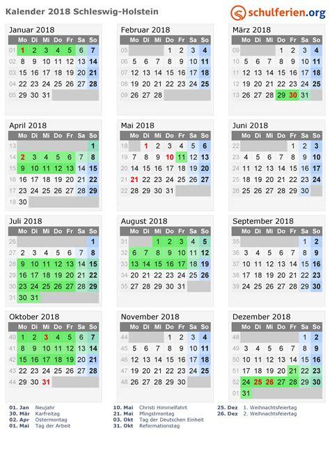 Kalender 2018 Mit Feiertagen Schleswig Holstein Kalender 2018 2019 Schleswig Holstein