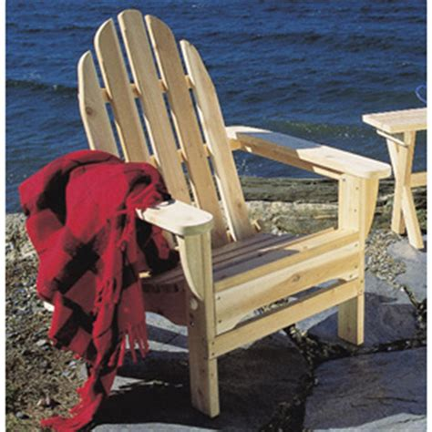 Rustic Natural Cedar Unfinished Adirondack Chair 200444 Unfinished Adirondack Patio Chair
