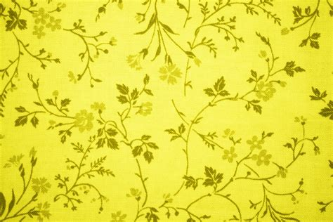 yellow pattern material flowery yellow fabric free stock photo public domain