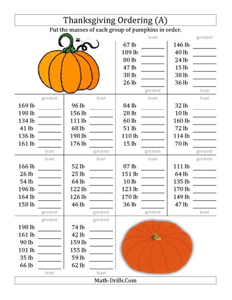 thanksgiving worksheets for 5th grade gallery for gt thanksgiving math worksheets middle