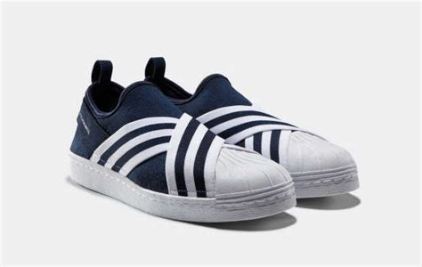 Adidas Slip On X Mountaineering Black Striped White Premium Original adidas originals white mountaineering team up on a