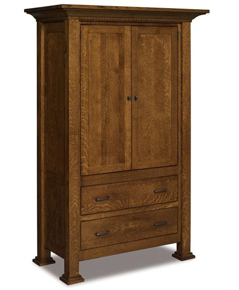 2 door armoire empire 2 door 2 drawer armoire amish direct furniture