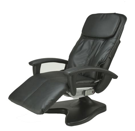 massage armchair recliner black ht 095 robotic human touch power recline electric