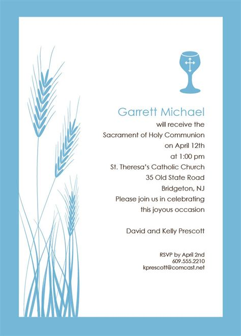 holy communion invitations templates 25 best ideas about communion invitations on