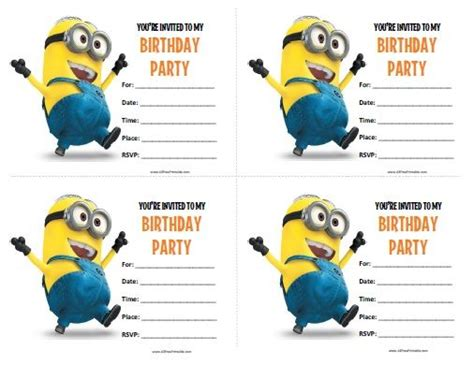 printable minion stationery minions birthday invitations all free printable