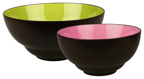 Duo Set of 2 Serving Bowls Duo   Modern   Serving And